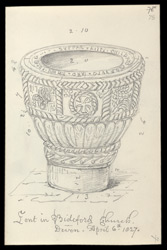 Bideford Church Font, 1827